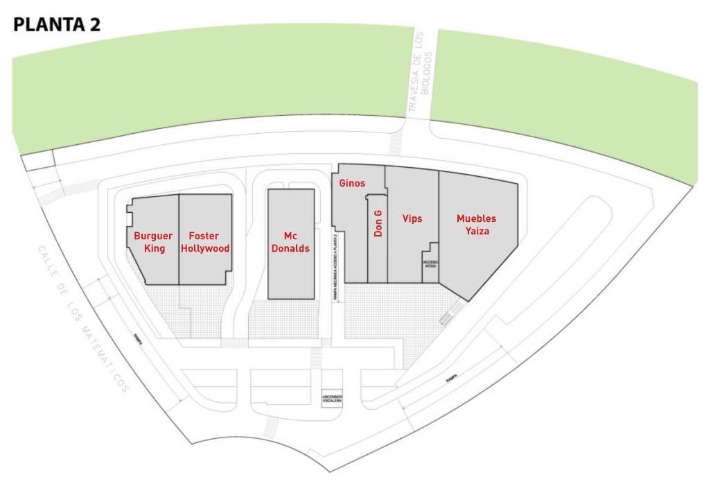 centro comercial arco majadahonda. Planta 2